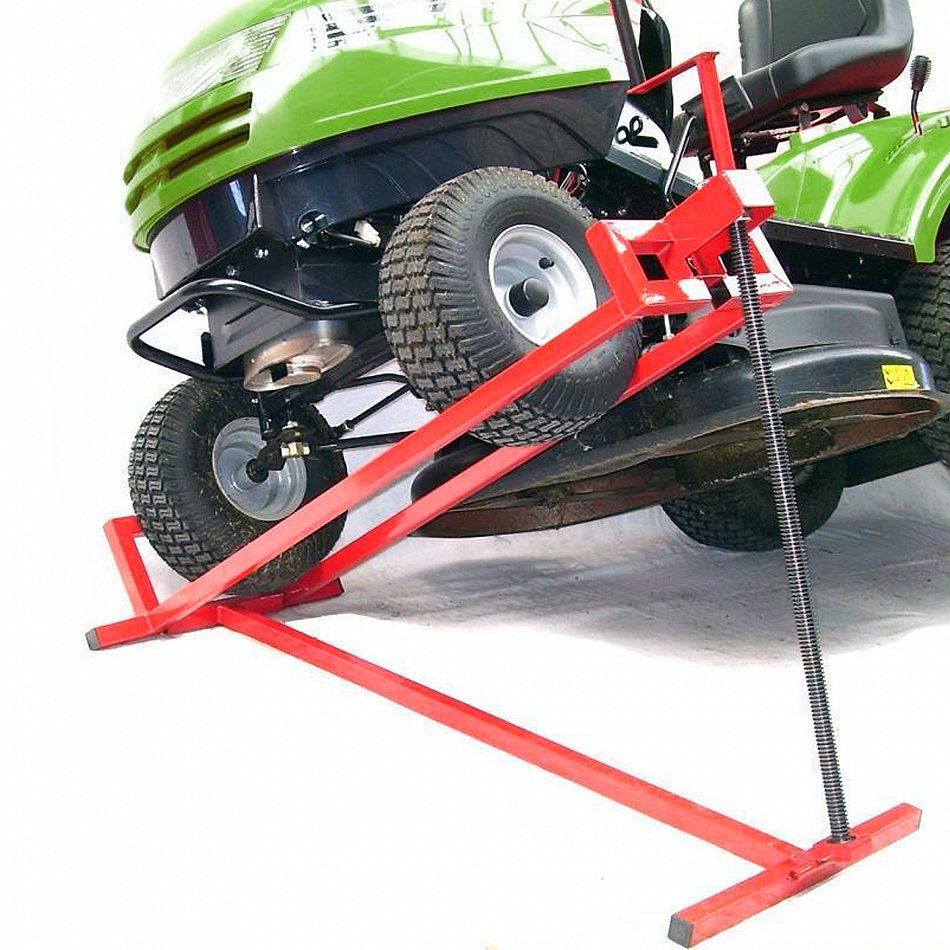 Garden Tractor Hydraulic Implement Lift : Lawn tractor jack lifting device hoist lift