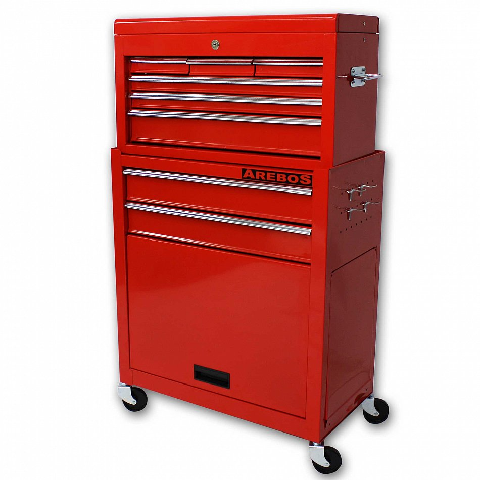 9 compartment tool trolley roller cabinet tool box ebay for Sideboard roller
