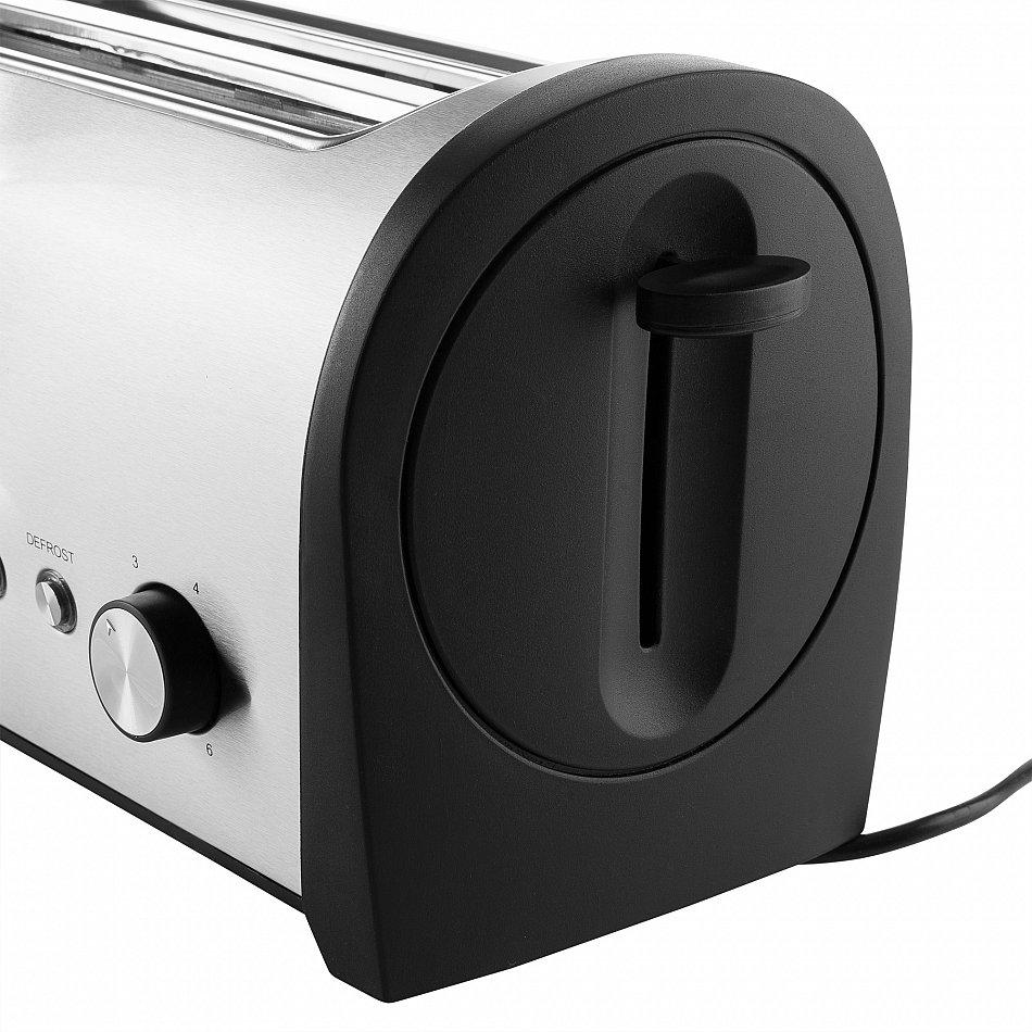 edelstahl toaster 1400 w kr melschublade 4 scheiben toaster langschlitz r ster ebay. Black Bedroom Furniture Sets. Home Design Ideas