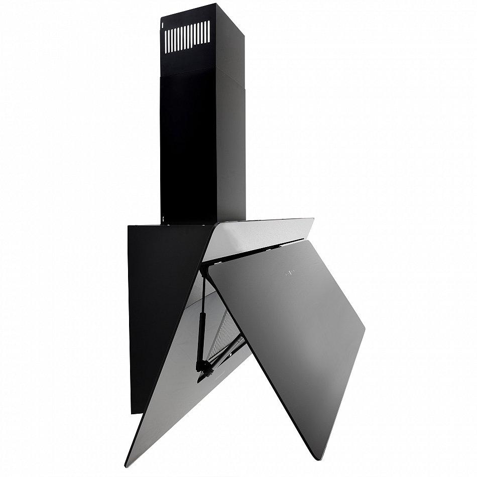 Cappa aspirante da cucina acciaio inox montaggio parete 90cm quadrato nero ebay - Montaggio cappa cucina ...