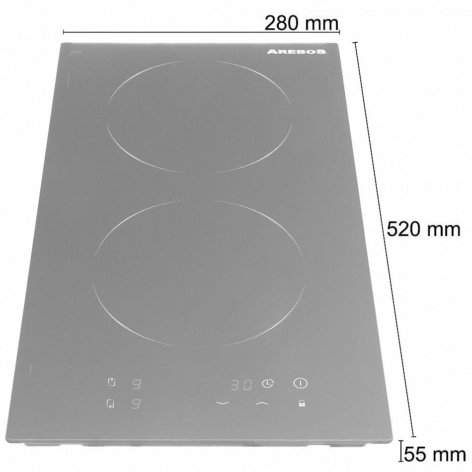induktionskochfeld glaskeramik ceran kochfeld kochplatten autark 3500w 2 zonen 4260199755945 ebay. Black Bedroom Furniture Sets. Home Design Ideas