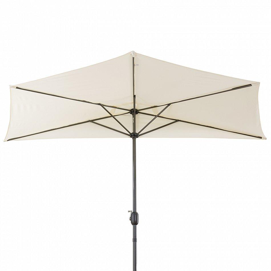 halbrunder sonnenschirm ampelschirm pendelschirm kurbelschirm beige 3m 4260551580338 ebay. Black Bedroom Furniture Sets. Home Design Ideas