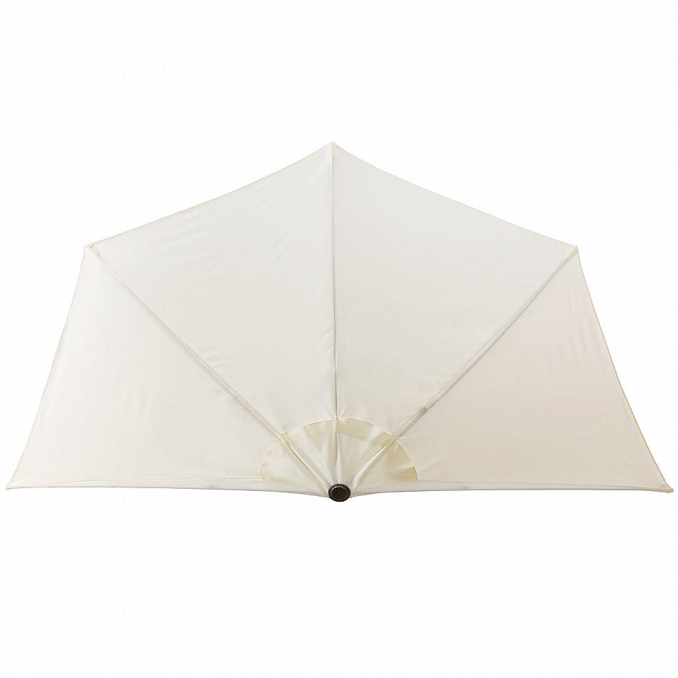 halbrunder sonnenschirm ampelschirm pendelschirm kurbelschirm beige 3m ebay. Black Bedroom Furniture Sets. Home Design Ideas