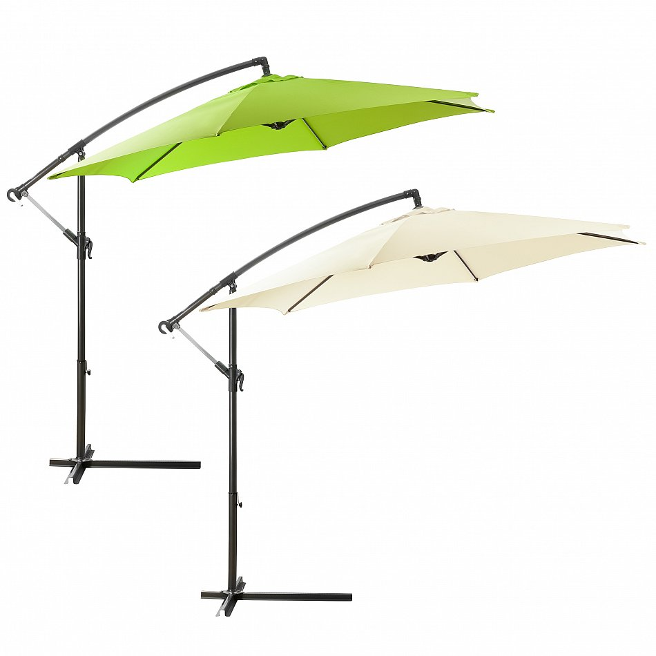 sonnenschirm ampelschirm pendelschirm kurbelschirm beige lemon 3m ebay. Black Bedroom Furniture Sets. Home Design Ideas
