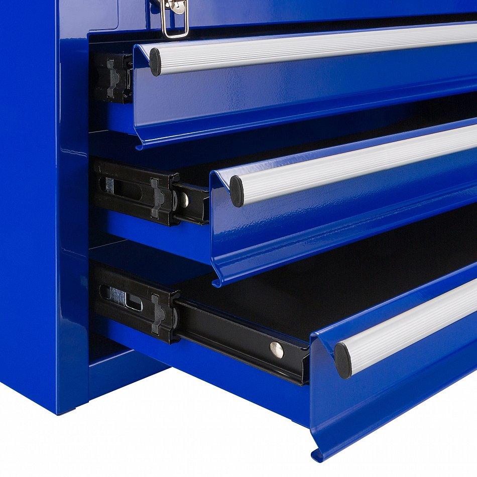 Blu Arebos cassetta degli attrezzi con 3/cassetti