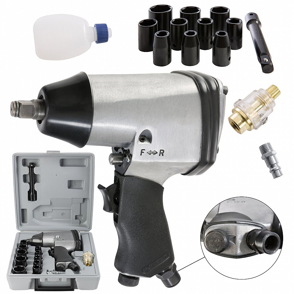 Druckluftwerkzeuge Schlagschrauber Druckluftschrauber Druckluft Schlagschrauber Schrauber Schlagschraubersatz 17tlg